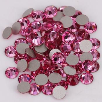 Dobrej jakości ss3-ss34 róża płaski powrót klej do paznokci na kryształowe kamienie/kryształki bez kleju
