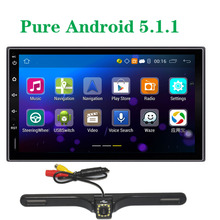 Rear View Camera Universal Quad core Android 4.4.4 1024*600 Car Radio GPS 2DIN 7inch 1.6GHZ CPU RAM 16GB Capacitive Touch Screen