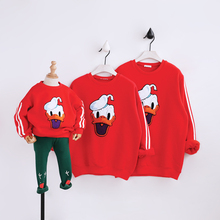 Family look winter cartoon sweater family matching clothes cartoon duck mother and daughter clothes family matching outfits
