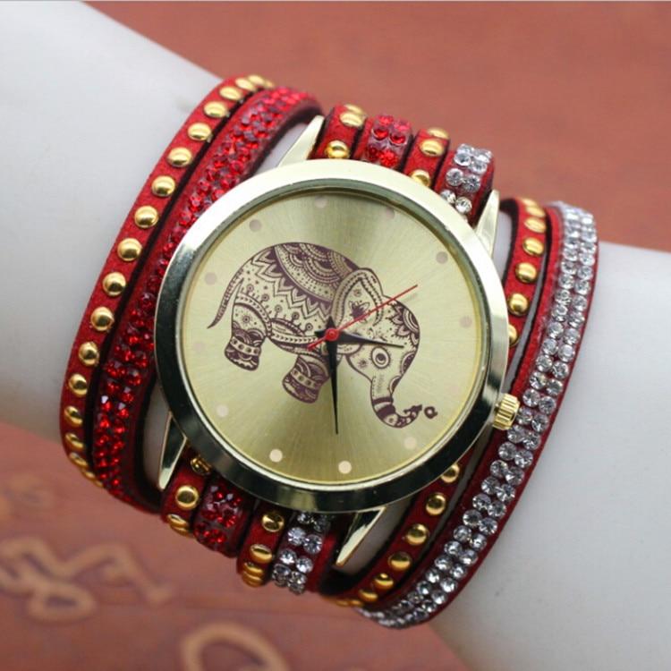 все цены на  High quality gold elephants  men and women`s top brand luxury quartz colock watch nylon strap A50 wrist watches reloj mujer  онлайн