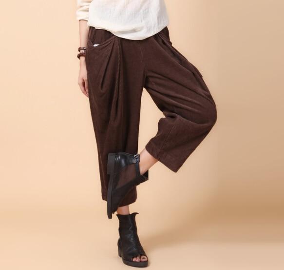 Popular Wide Leg Corduroy Pants for Women-Buy Cheap Wide Leg ...