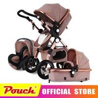 Goldbaby stroller high landscape can sit or lie shock deck children bb baby stroller free delivery