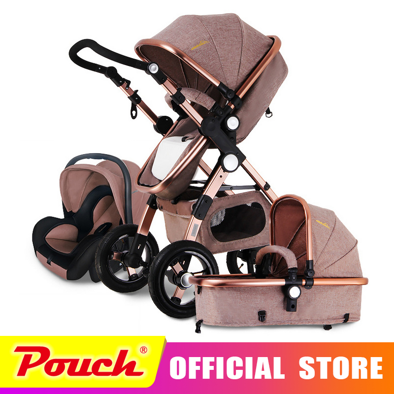 все цены на Goldbaby stroller high landscape can sit or lie shock deck children bb baby stroller free delivery
