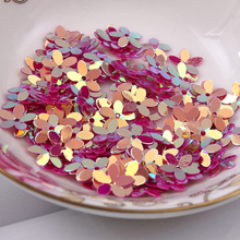 Fashion 500pcs 10mm six petals flower Fuschia with golden sequins Jewelry Accessories cloth crafts confetti clothing