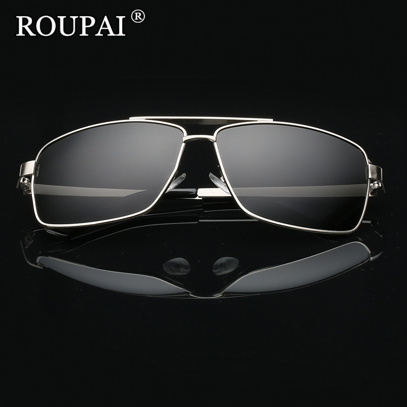 ROUPAI Brand 2017 Luxury Men Polarized Sunglasses Classic Big Frame Male Driving Glasses Vintage Mens Shadow Glasses Sun Oculos