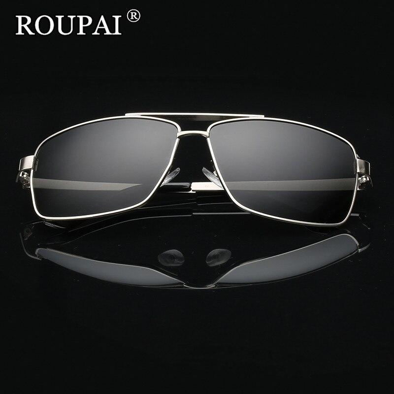 ROUPAI Brand 2017 Luxury Men Polarized Sunglasses Classic Big Frame Male Driving Glasses Vintage Men's Shadow Glasses Sun Oculos