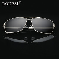 ROUPAI Brand 2017 Luxury Men Polarized Sunglasses Classic Big Frame Male Driving Glasses Vintage Men S