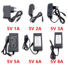 цены Adapter Lighting Transformers 220v to 12V 5V Power Supply 5 V Volt 1A 2A 3A 5A 6A 8A 10A AC DC Led Power Supply Adapter 5V 5A 2A