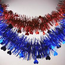 20pcs/lot 2M Christmas Decoration Christmas Tinsel Garland Christmas Tree Ornaments Colorful Tinsel Party Supplies стоимость