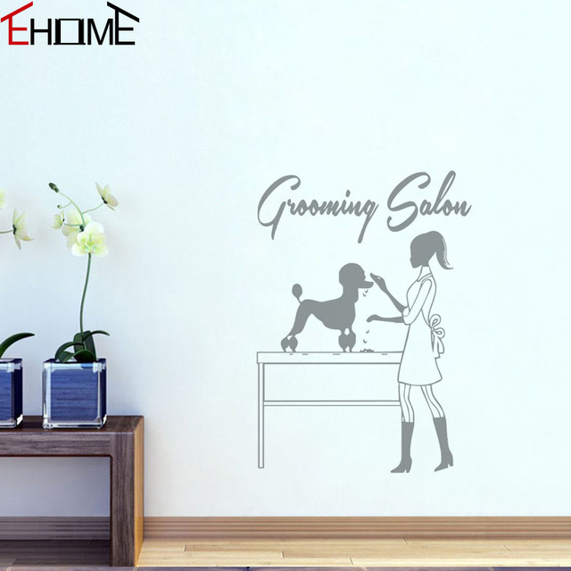 EHOME Grooming Salon Wall Decor Stickers Adhesive Vinyl Wall - Vinyl wall decal adhesive