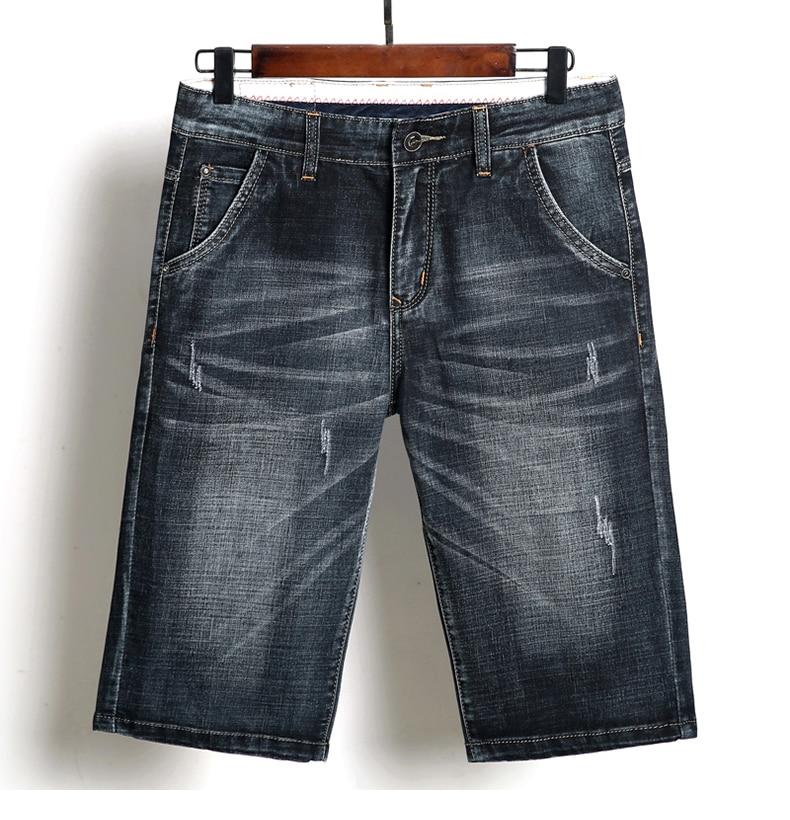 KSTUN Summer Shorts Jeans Men Denim Pants Black Blue Fashion Design Men's Jeans Slim Fit Stretchy Good Quality Male Jeans Hombre 16