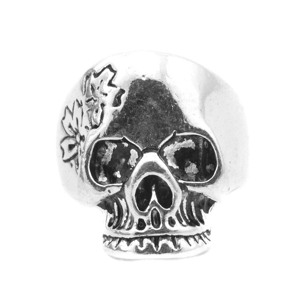 2016 Nouvelle Mode Antique Argent Plaqué Hommes de Tête de Crâne Anneaux  Gothique Punk Style Squelette Bijoux G14 Livraison Gratuite a8e143a04e9
