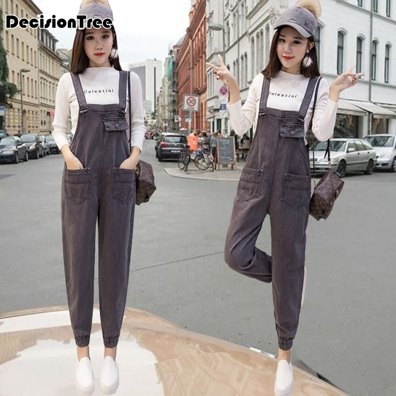 2019 new womens bodycon jumpsuit jeans denim rompers bib overalls trousers pants 4