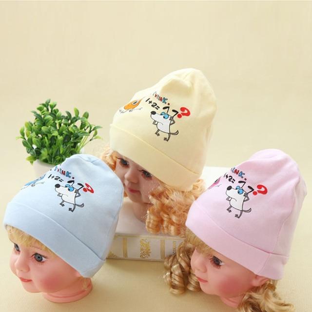 ae8524b5d01 New Baby Hats Boys Girls Cotton Caps Photography Props Dog Prints Hat  Spring Autumn Newborn Cap