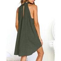 Женское платье, летнее, стильное, Пляжное, без рукавов, сексуальные вечерние платья, женская элегантная одежда, халат, femme elbise, праздничные, н...