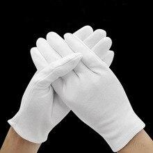 1 пара, белые рабочие толстые хлопковые рабочие хлопчатобумажные тонкие средние и толстые этикеты, wenwan, перчатки для проверки качества
