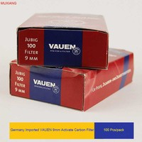 VAUEN 100 Pcs Pack 9MM Activate Carbon Filter For Rosewood And Briarwood Smoking Pipe Good Quality