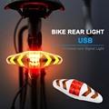 Велосипедный задний светильник  беспроводной пульт дистанционного управления  перезаряжаемый светодиодный задний фонарь для велосипеда  ...