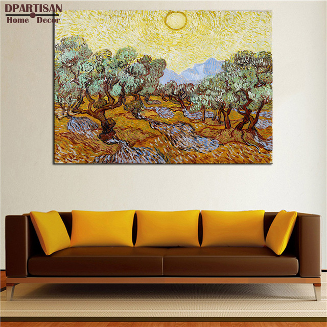 Us 5 63 6 Off Dpartisan Vincent Van Gogh Olive Trees Arts Giclee Wall Art Canvas Prints No Frame Wall Painting For Home Living Rooms Pictures In