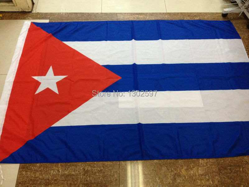 Free shipping 4ft x 6ft Hanging Flag Polyester Cuba National Flag Banner Outdoor Indoor 120x180cm