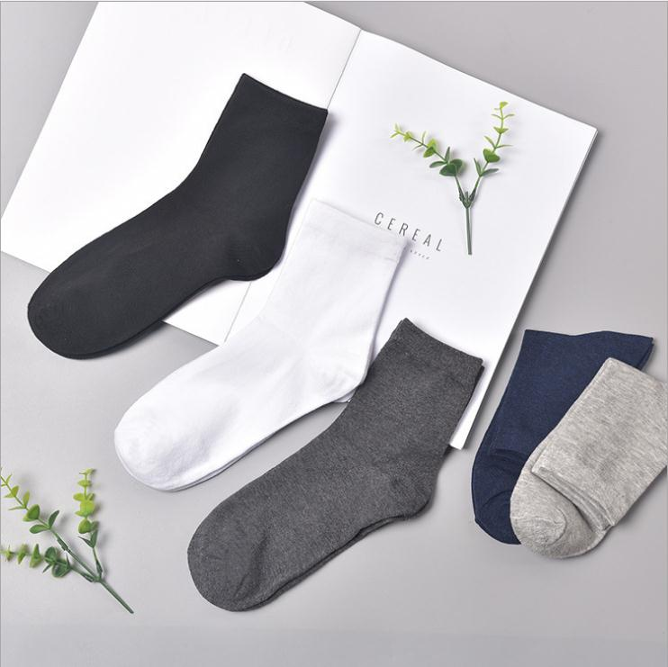 Polyester cotton 3 pairs trainer   socks   Plain black/white mens womens ankle Casual   Socks