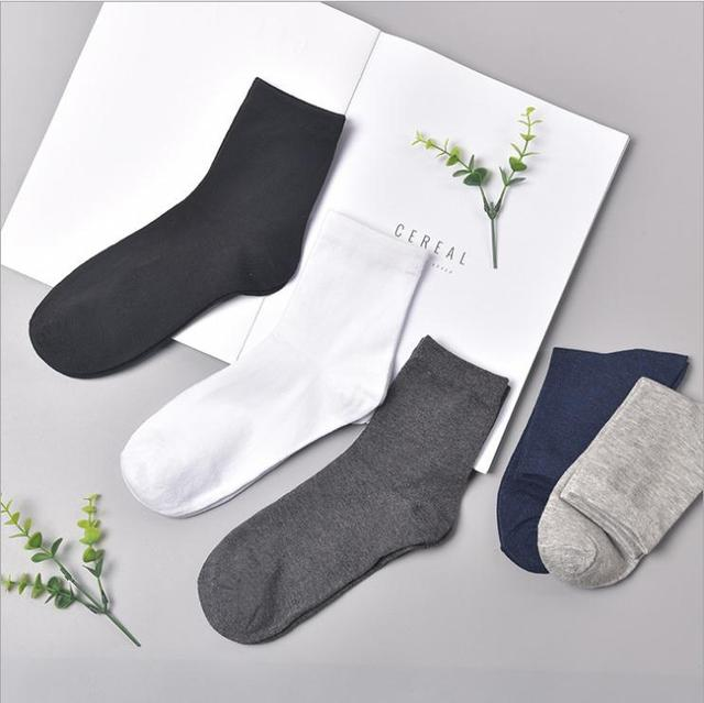fe8b77b1a Polyester cotton 3 pairs trainer socks Plain black/white mens womens ankle  Casual Socks