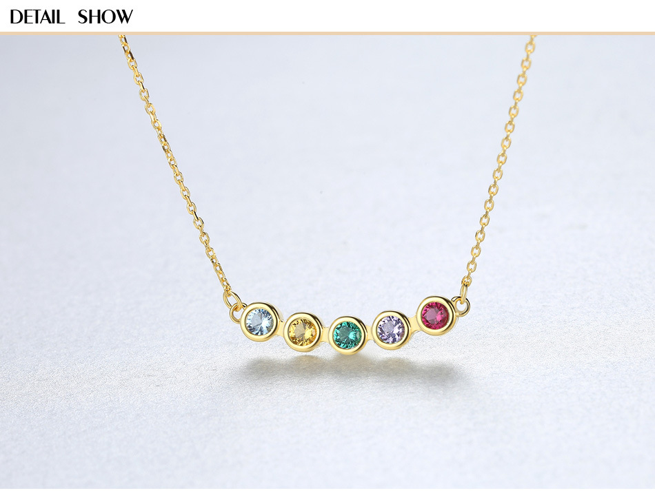 Five color natural color treasure jewelry pendant S925 sterling silver female necklace DS08