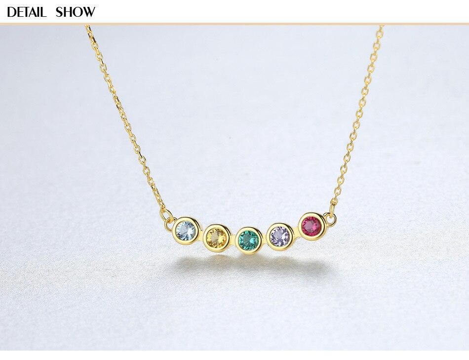 Cinque-colore naturale di colore tesoro pendente dei monili S925 sterling argento collana femminile DS08Cinque-colore naturale di colore tesoro pendente dei monili S925 sterling argento collana femminile DS08