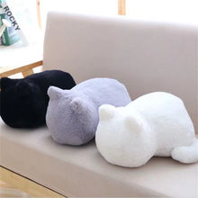3 Colors Kawaii Plush back Shadow Cat Toys Staffed Soft Cute Cat Dolls Kids Gift Doll Animal Toys Home Decoration cushions