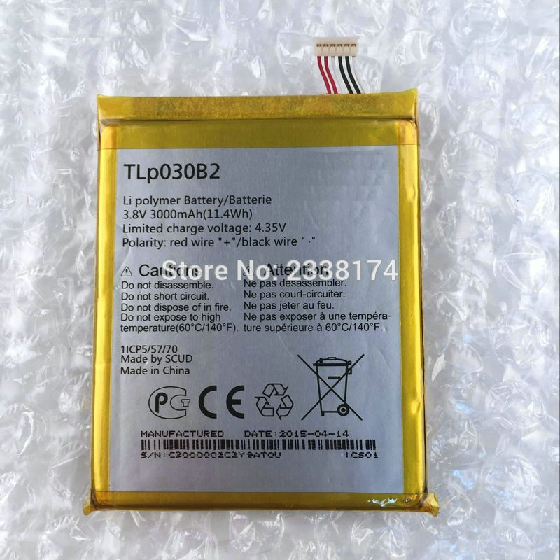 High Quality 3000mAh TLP030B2 Battery For Alcatel One Touch Onetouch Pop S7 OT 7045 <font><b>7045Y</b></font> Vodafone LZ image