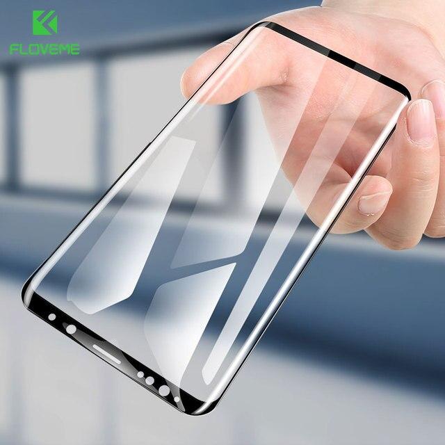 FLOVEME Pour Samsung S9 S8 Protecteur D'écran 3D Incurvée Pleine Couverture Ultra Douce Film Pour Samsung Galaxy S8 S9 Plus pas le Verre Trempé