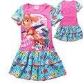 2017 verano de manga corta falda de los niños ropa chica dressJRR109
