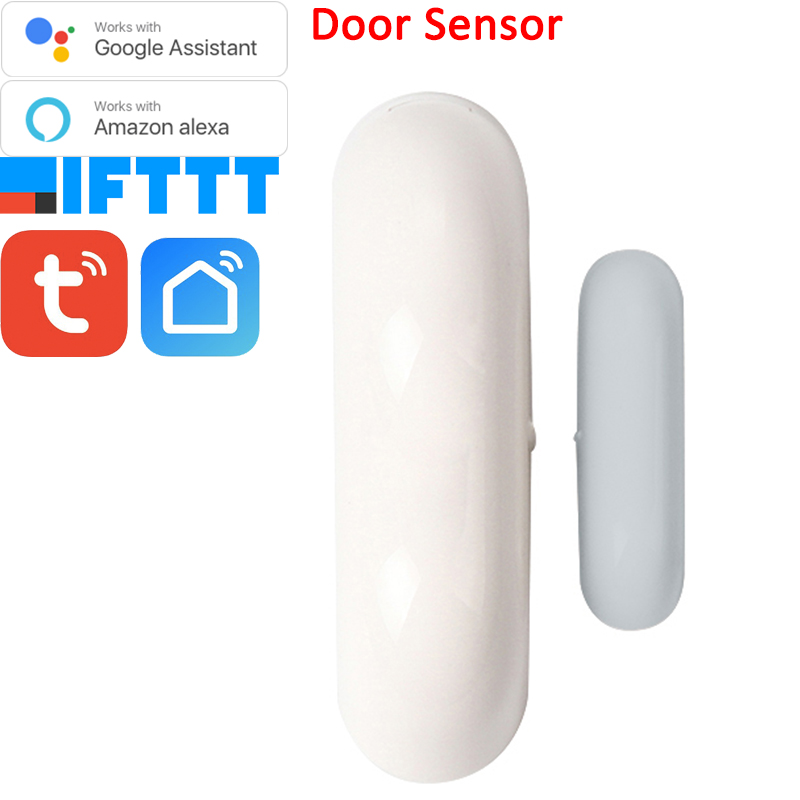 Tuya Smart Home Door Window Contact Sensor WiFi App Notification Alerts Battery Operated Work With IFTTT Alexa Google
