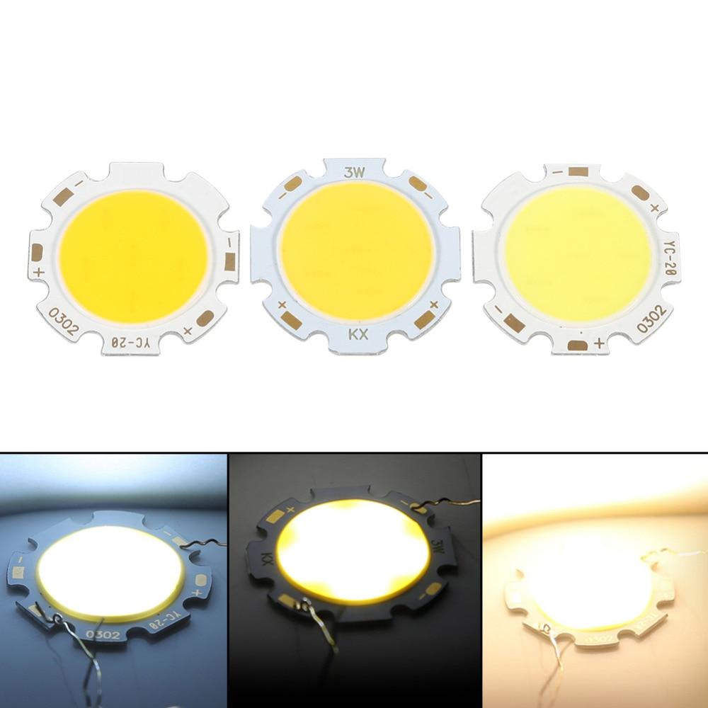 10pcs/Lot Round COB 3W High Power LED Chip Bulb Lamp Light ...