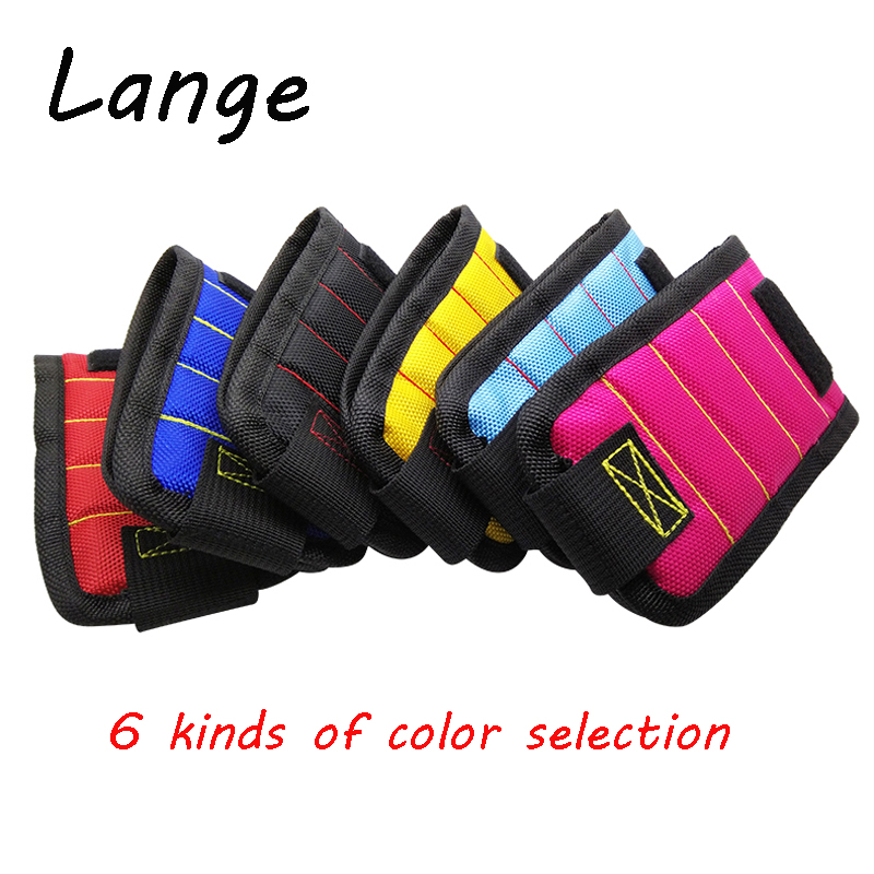 Lange Magnetic Wristband Portable Tool Bag Electrician Wrist Tool Belt Screws Nails Drill Bits Holder Repair Tools A30 ...