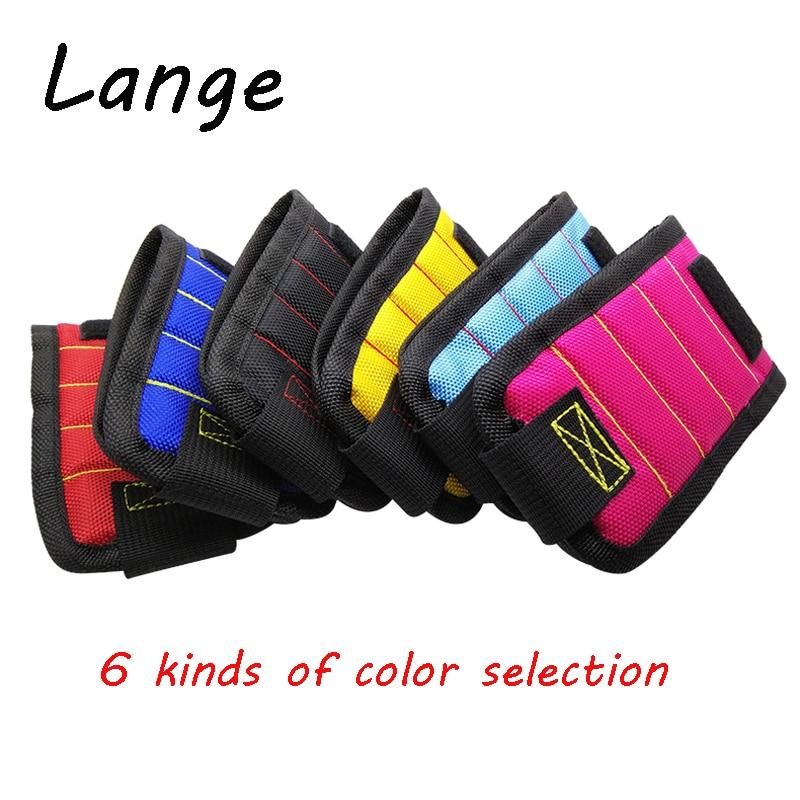 Lange Magnetic Wristband Portable Tool Bag Electrician Wrist Tool Belt Screws Nails Drill Bits Holder Repair Tools A30