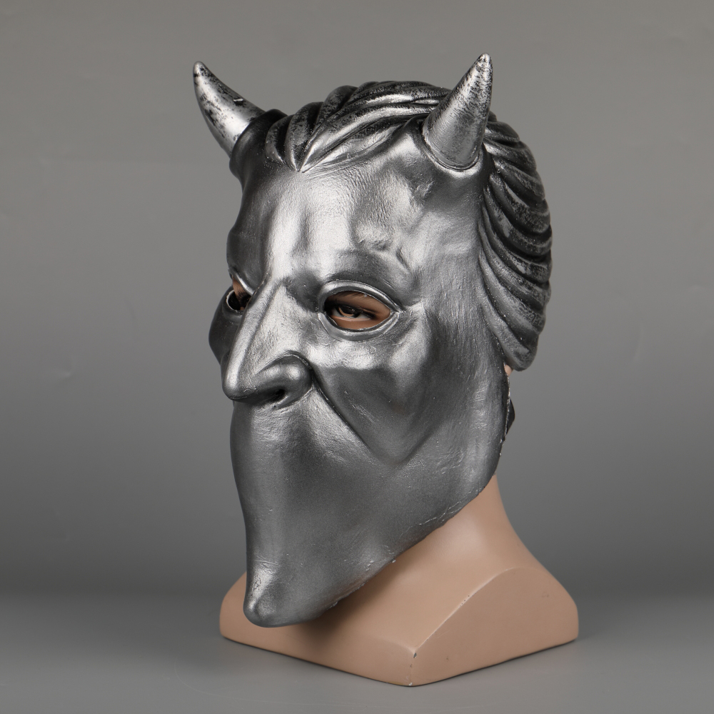 Ghost Nameless Ghoul Mask Cosplay Ghost B.C Rock Roll Band Latex Helmet Masks Halloween Party Props DropShipping (26)