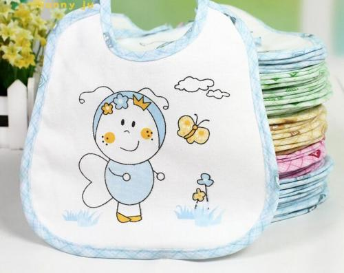 Newest Arrivals Hot Infant Newborn Toddler 10pcs/lot  Baby Boy Girl Newborn Kids Bibs Waterproof Kids Cartoon Ptint Saliva Towel