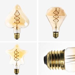 Image 5 - Led light bulb E27 Star/Heart/Diamond Spiral Soft LED Filament Lamp for Gift home/living room/bedroom decor 110/220V ampoule led