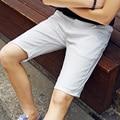 Men Shorts Straight Plus Size 2017 Knee Length Zipper Shorts Brand Fashion Casual Bermuda Masculina White Black Green Red