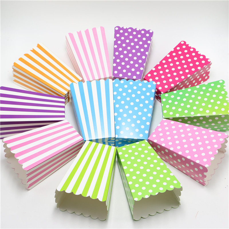 set of 12pc baby shower decoration pink girl blue boy favors popcorn boxes birthday party boy