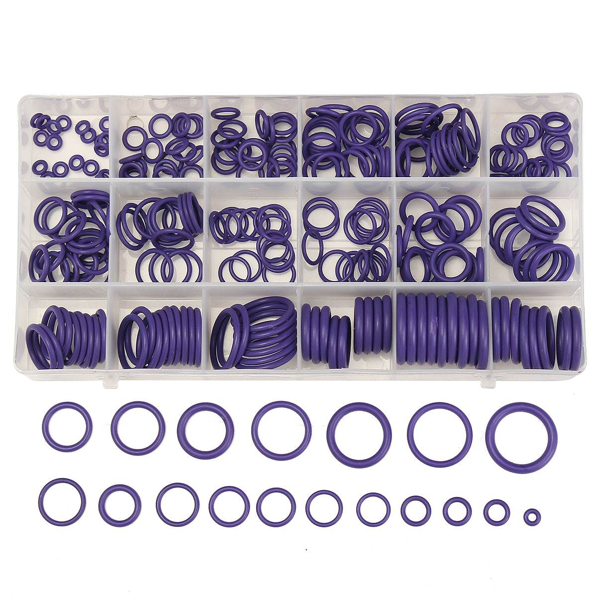 Seal O Ring Gaskets Set 225pcs Purple Rubber Washer Freeship Auto Air conditioning Parts for R22 R134a O Ring Assortment Kit цена