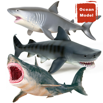 цена на Children's Simulation Marine Life Underwater World Model Hollow White Shark Giant Tooth Shark Toy Ornaments Birthday Gift