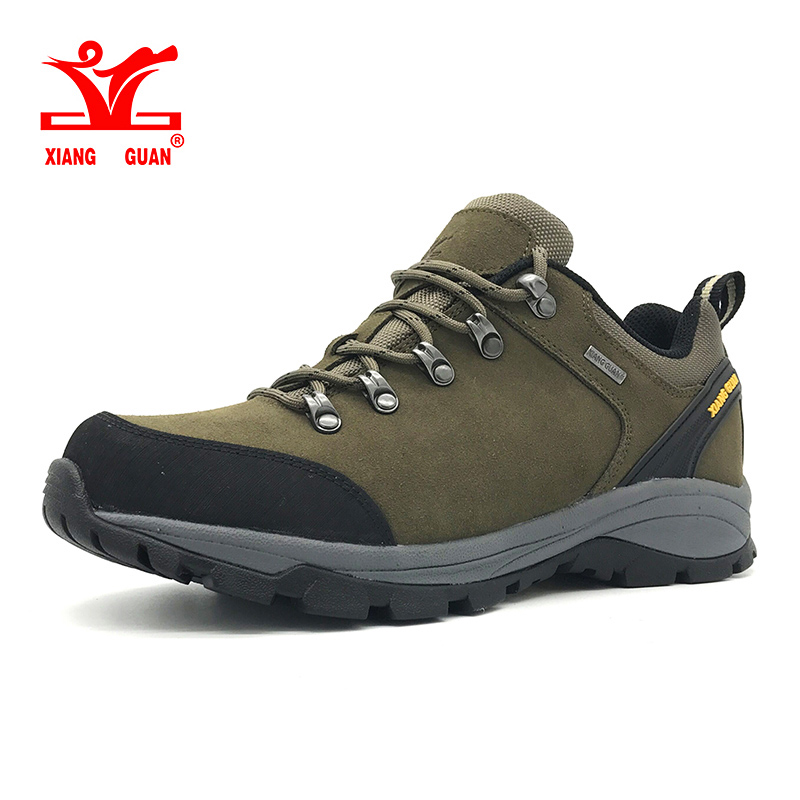 2018 New outdoor men's Cattlehide hiking shoes windproof Tactics boots Anti-skid breathable damping climbing camping Sneakers peak sport men outdoor bas basketball shoes medium cut breathable comfortable revolve tech sneakers athletic training boots