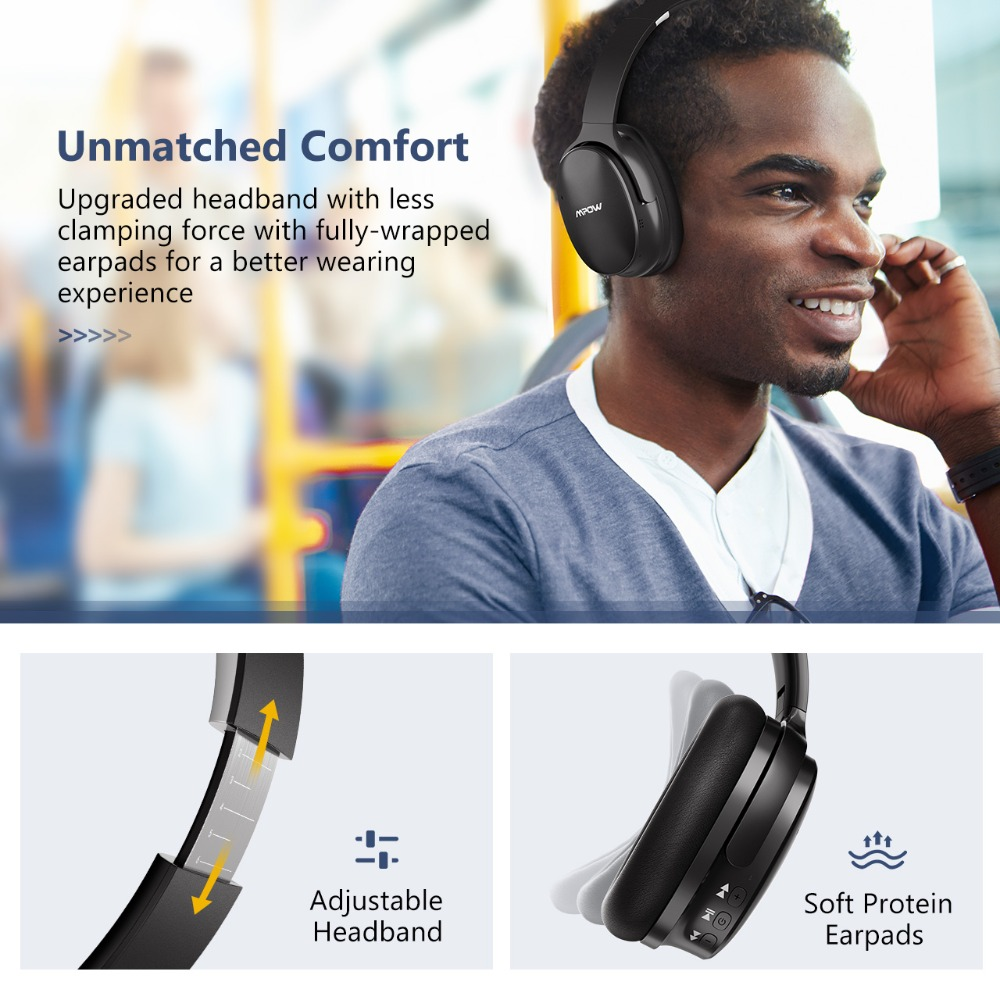 Mpow H10 Active Noise Cancelling écouteurs sans fil bluetooth 18-25 H Temps de Jeu ANC casque avec micro Pour iPhone Huawei Xiaomi - 3