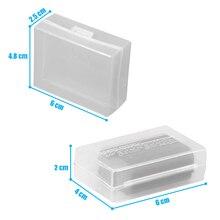 Caixa de plástico translúcida de 5 pçs/lote para dslr bateria canon LP E8 LP E6 nikon LP E5 BP 511A sony crv3 pentax li90