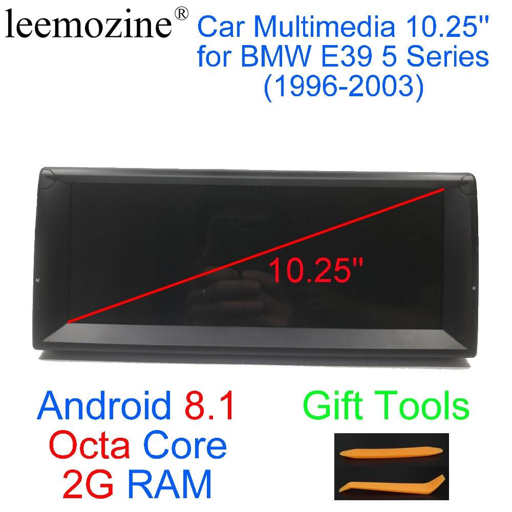 Новейший Android 8,1 Восьмиядерный 2G ram 3 2G rom gps Navi 10,25 дюймов Автомобильный DVD мультимедиа для BMW E39 5 серии 1996 2003 с радио