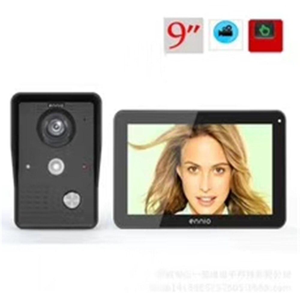 9 Inch Touch Screen Wireless WIFI Doorbell 1000TVL Intercom Video Door Phone