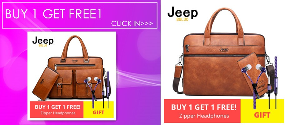 09955850c8 JEEP BULUO Men Business Bag For 13'3 inch Laptop Briefcase Bags 2 in 1 Set  Handbags High Quality Leather Office Bags Totes Male Shoulder Bag Messenger  Bag ...