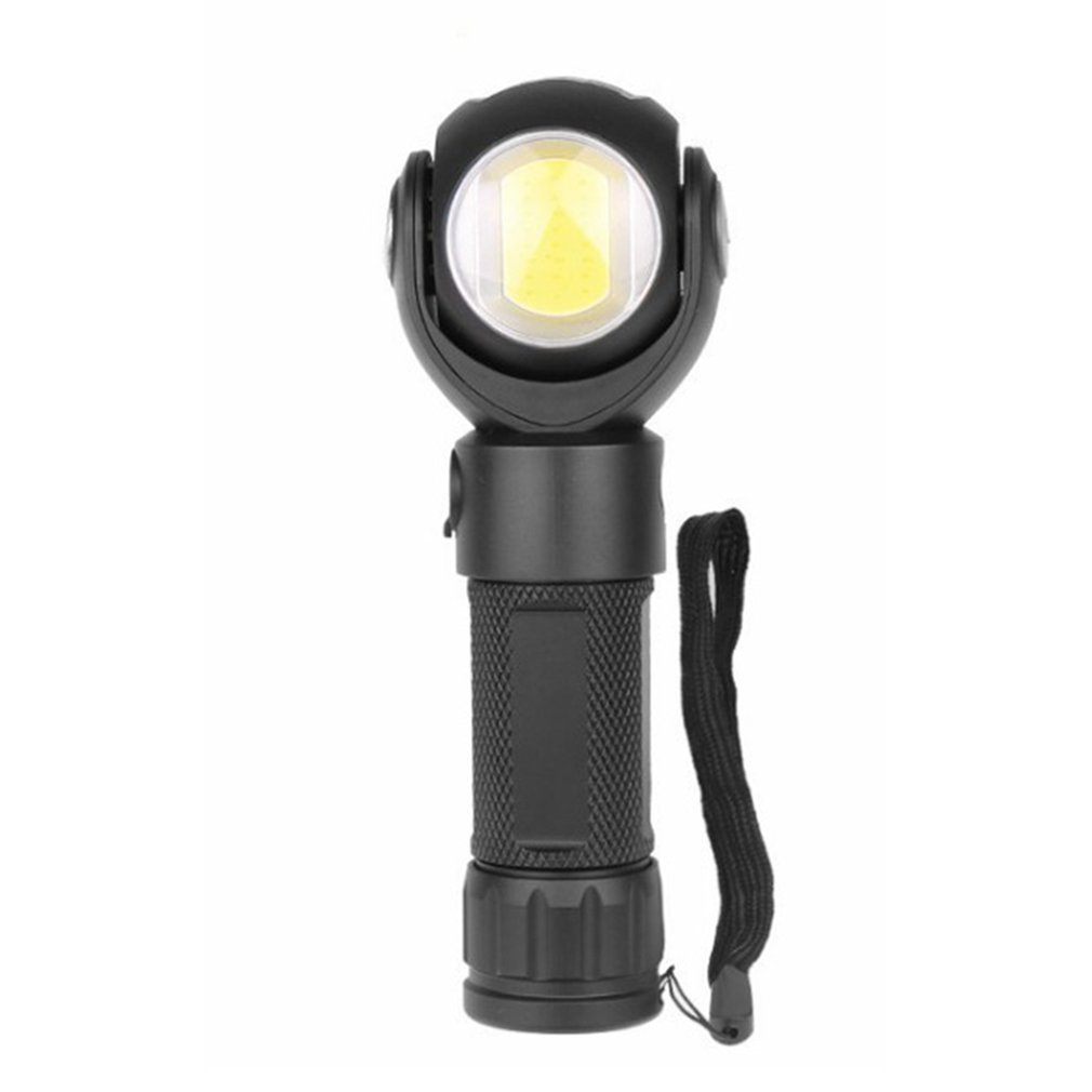 1315 T6 COB 7 Modes Mutifunction 360 Rotating Head Flashlight Magnetic Tail USB Charging LED Torch